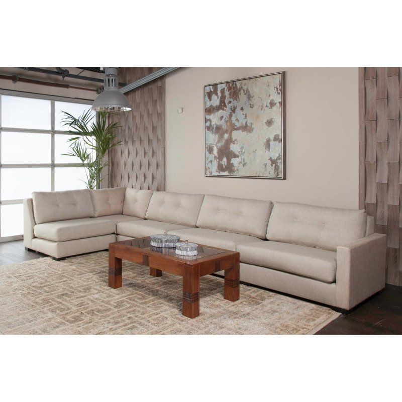 South Cone Mayfair Button Tufted Modular Left L Shape Sectional Sofa Myfr Btn Ul3 White Sectional Sofa Furniture Sofa