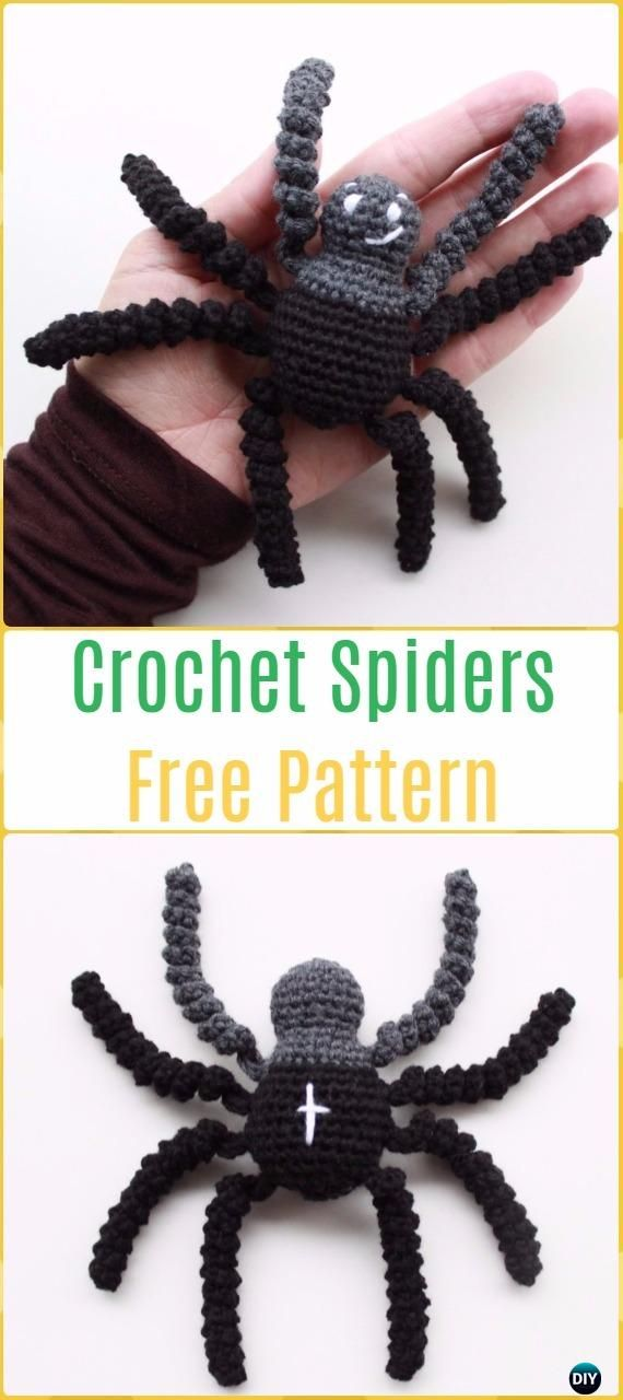 Crochet Spiders Free Pattern -Crochet Halloween Amigurumi Free ...