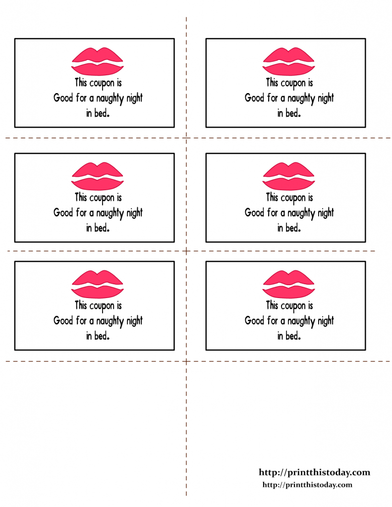 free printable kinky coupons for him
