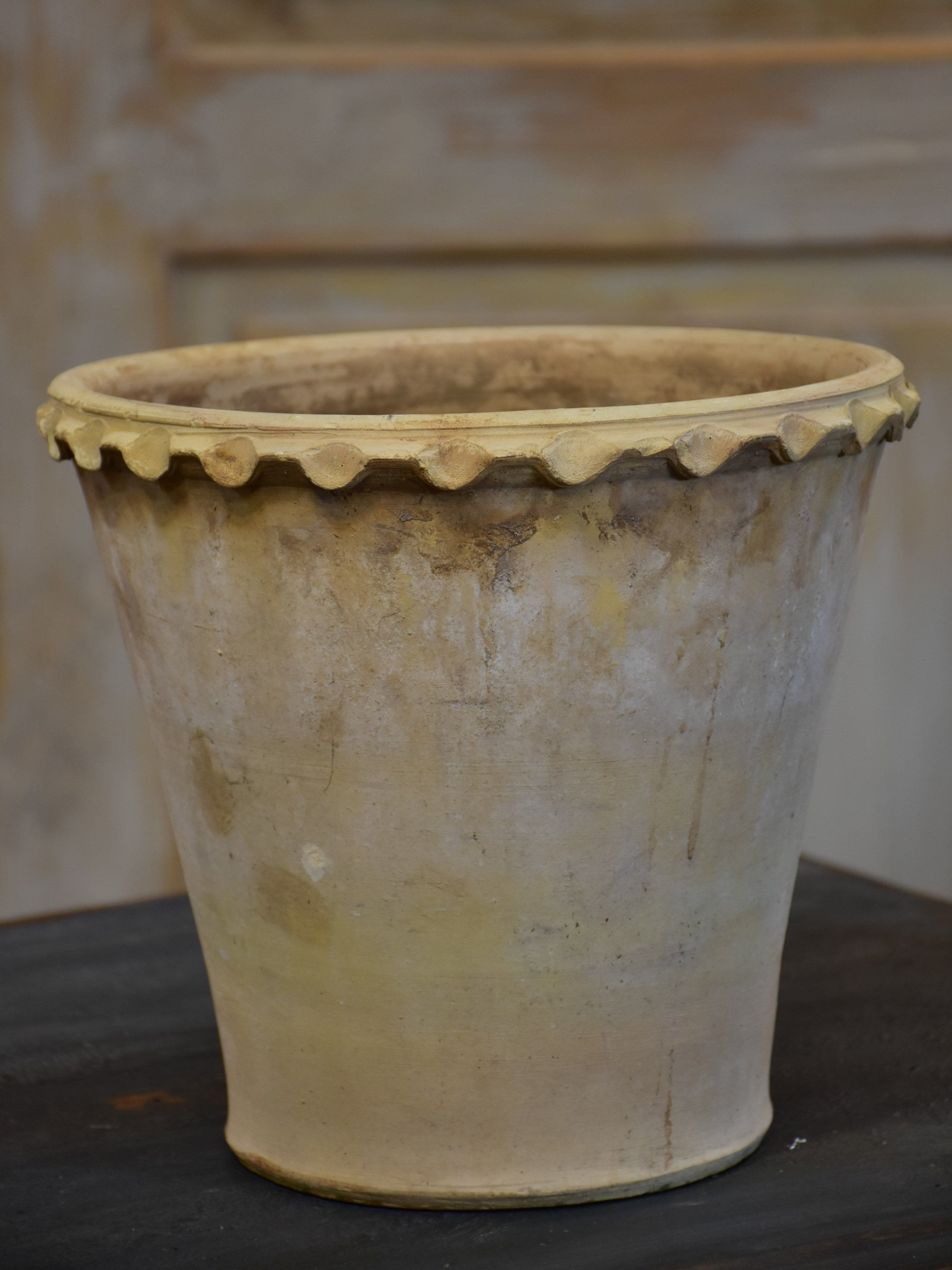 antique white terracotta flower pot from anduze | terracotta, flower