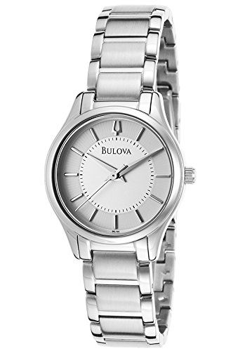 Women's Wrist Watches - Bulova Silver Dial Stainless Steel Ladies Watch 96L183 *** Click on the image for additional details.