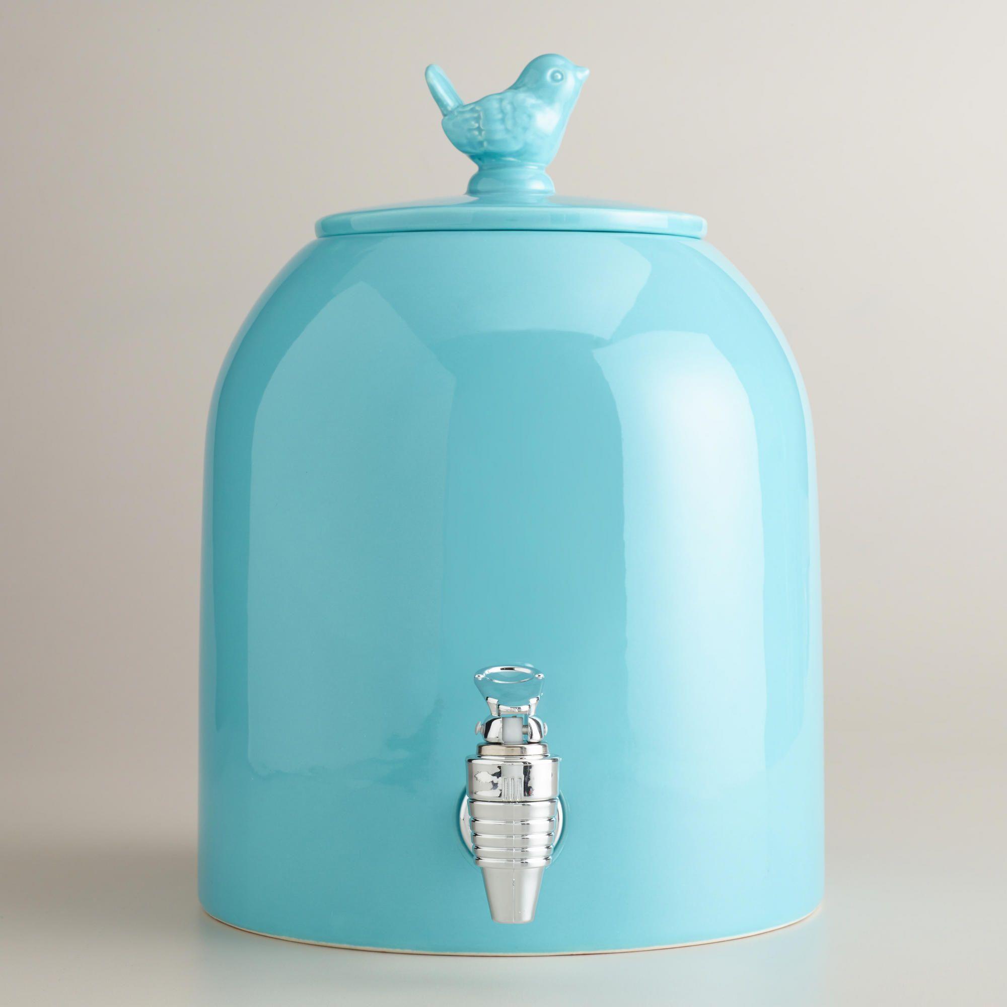 Aqua Bird Ceramic Drink Dispenser   Home Love   Pinterest   Pastell