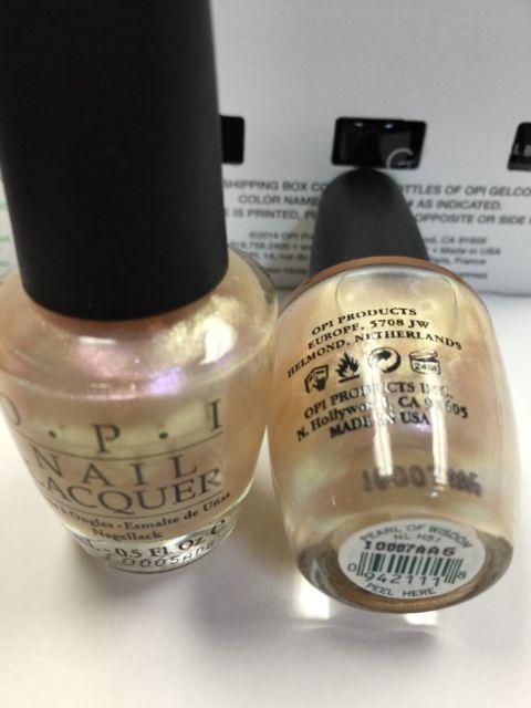 2 OPI Nail Polish *PEARL OF WISDOM* H51~Nail Lacquer~Duochrome Hong ...