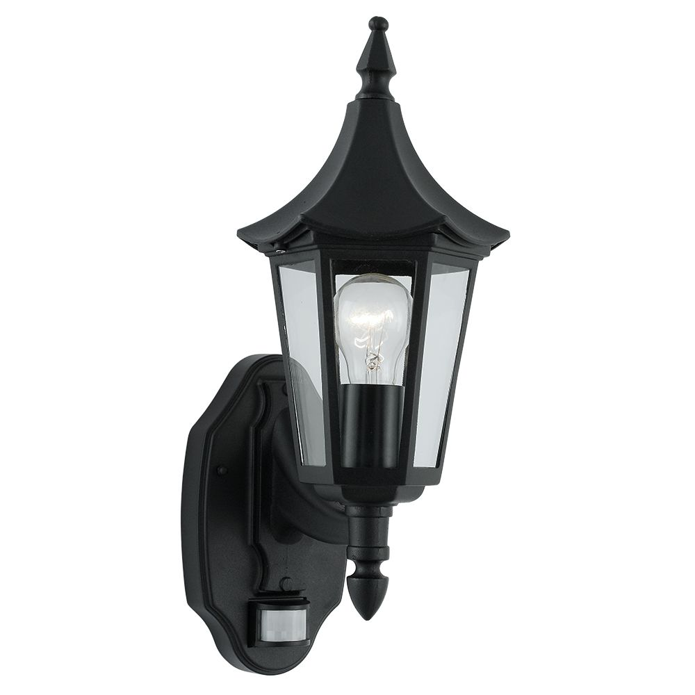 Searchlight 14715 Bel Aire Black PIR Outdoor Lantern Wall Light From Lights  4 Living
