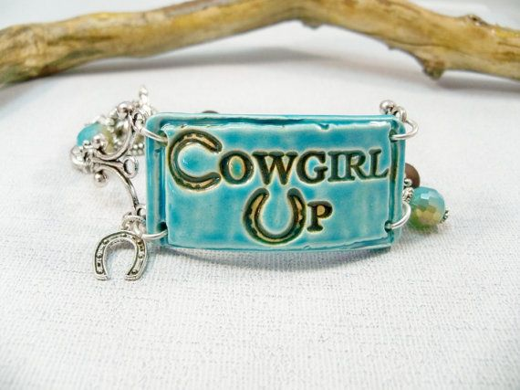 Western Turquoise/ Brown Jewelry/COWGIRL by babbleon on Etsy, $35.00