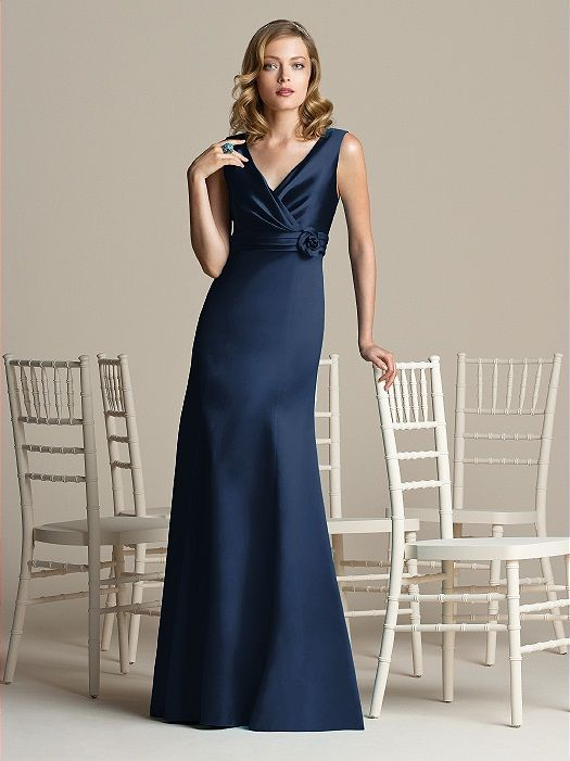 After Six Bridesmaid Style 6588  in midnight blue
