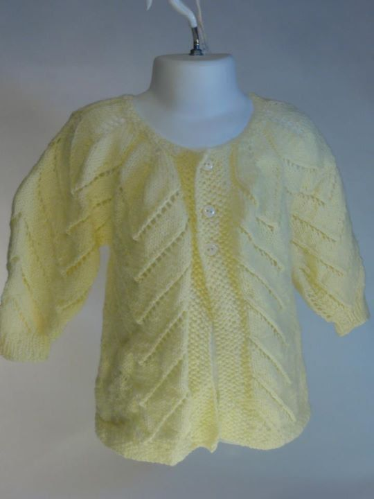 Baby Sweater in Pale Yellow Cardigan Handknit by toppytoppy, $75.00 ...