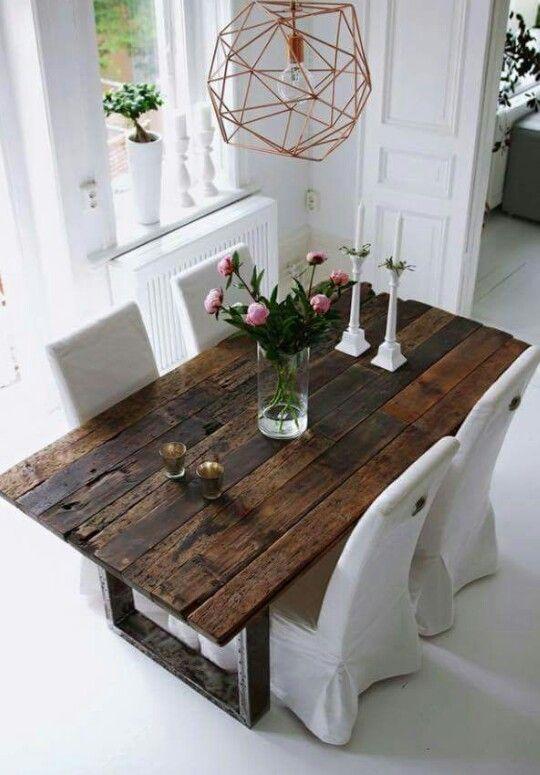 pallet dining table pallets dining rustic table dining room rh pinterest ca