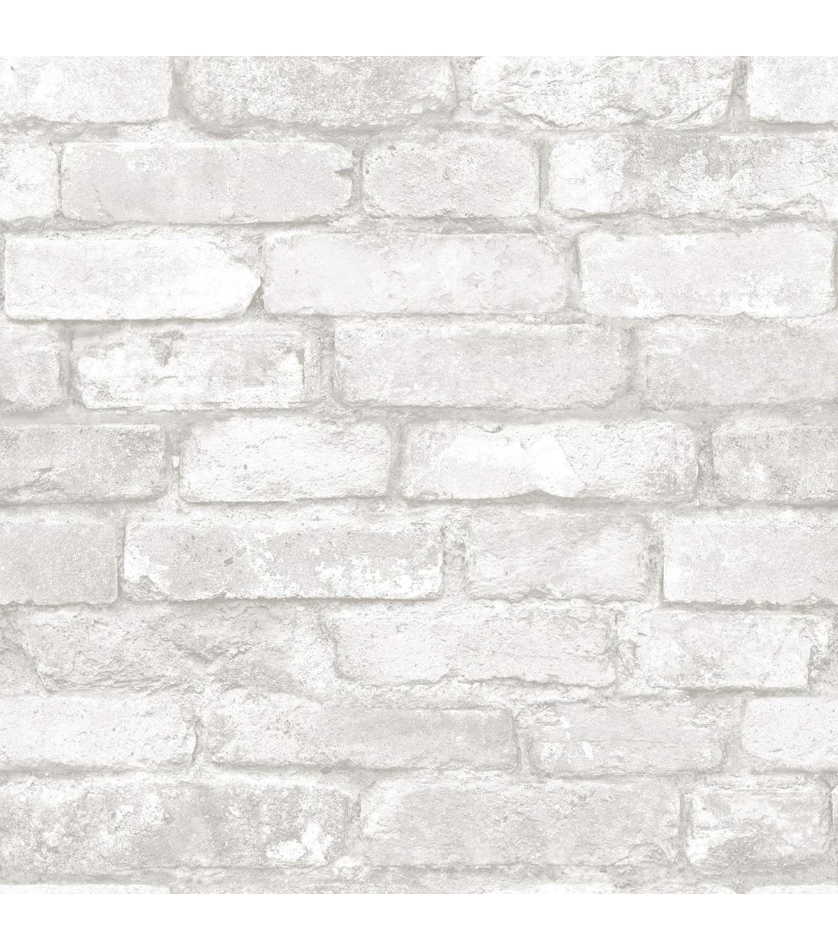 WallPops NuWallpaper Grey White Brick White brick
