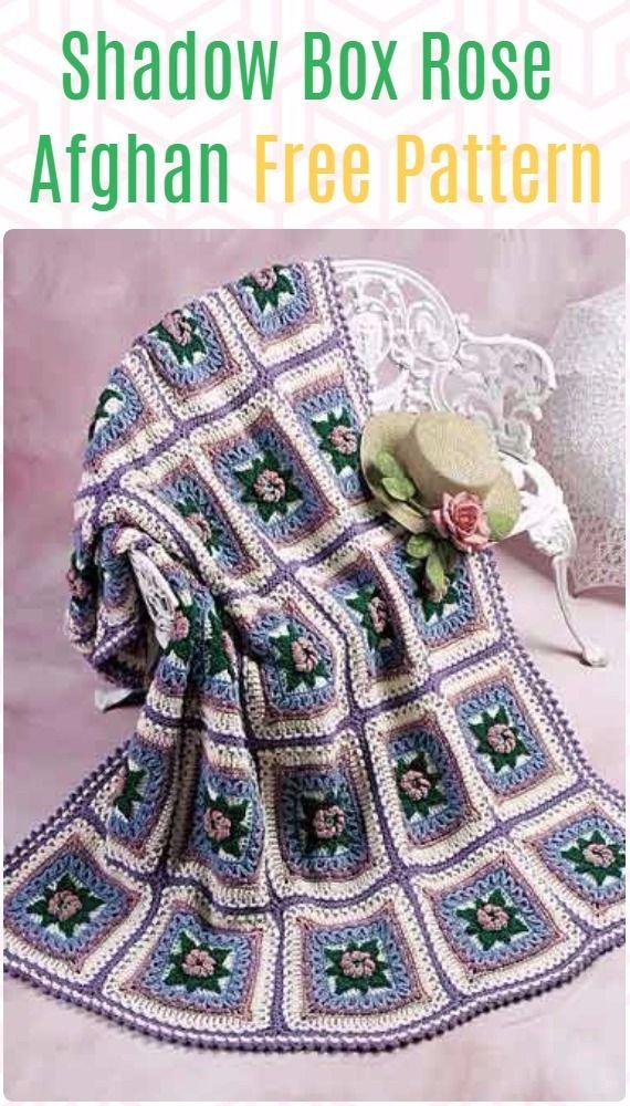 Crochet Shadow Box Rose Afghan Free Pattern | Afghan Crochet ...