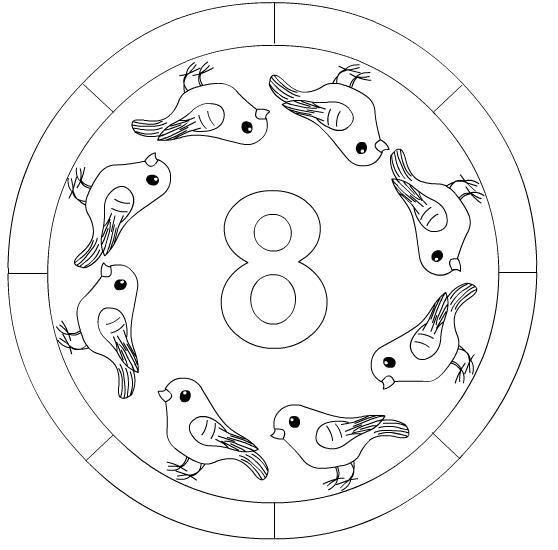 Sayilar Sayiboyama Okuloncesi Sinifetkinligi Mandala Mandala