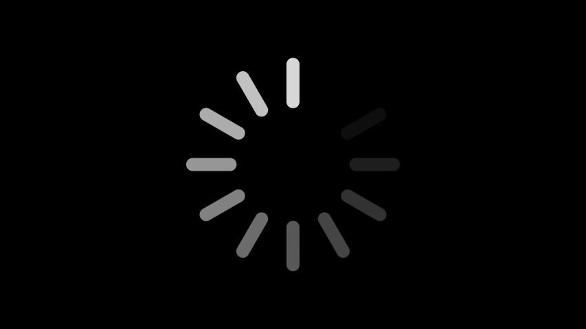 Loading Circle Icon On Black Stock Footage Video