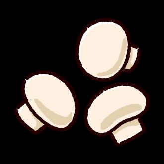 マッシュルームのイラスト 2カラー マッシュルーム キノコ イラスト