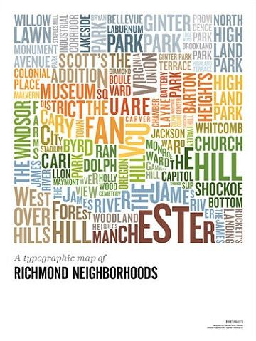 Shop Rvanews Richmond Hood Map Rva Typography Aesthetics X