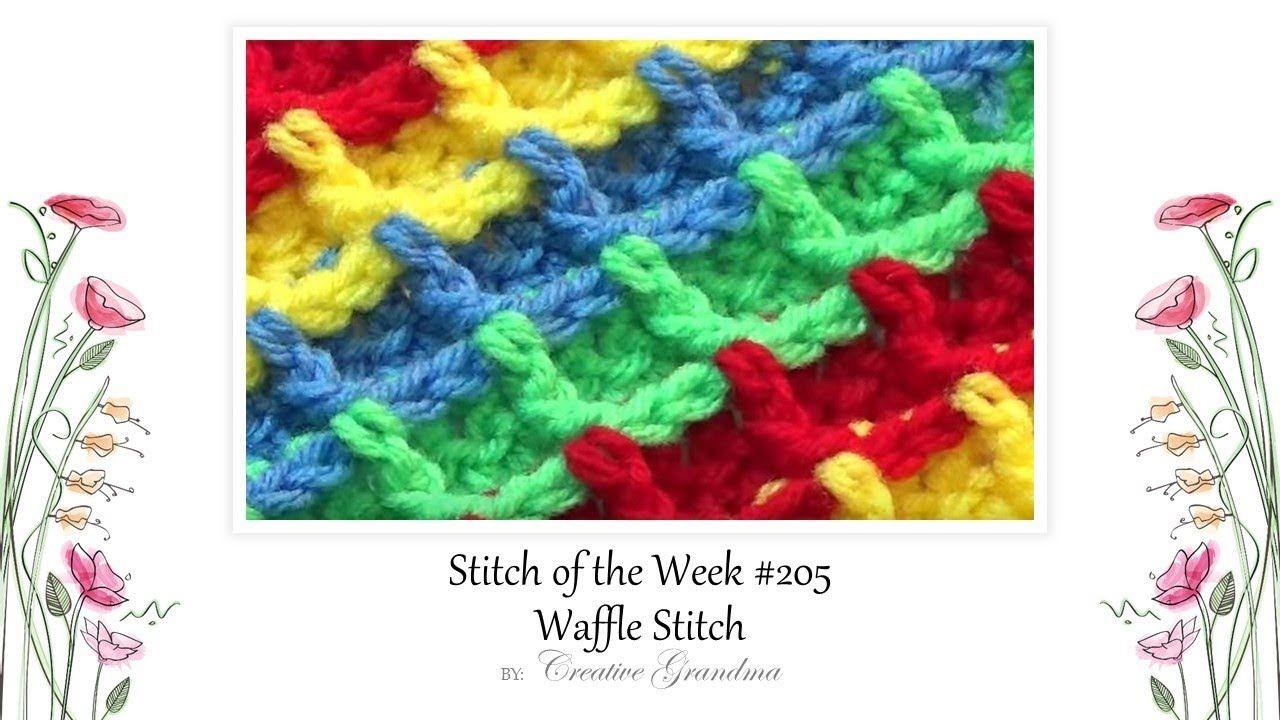 Stitch Of The Week) How To Crochet Waffle Stitch - Free Pattern
