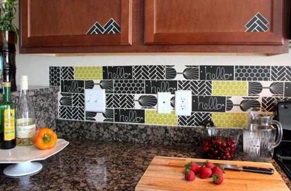 Die alte Küche mit neuem Fliesenspiegel verschönern - fliesenspiegel in der küche