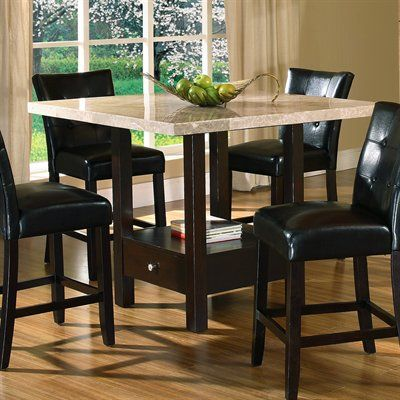 Pedestal Table I Would Like To Do A Granite Top So It Can Act Like An Extension To My Co Tall Dining Table Dining Table In Kitchen Counter Height Dining Table