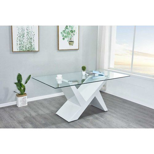 Metro Lane Faxon Dining Table Dining Table Solid Wood Dining