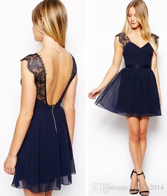sitio de buena reputación 455b0 afb5d vestidos para boda cortos azul marino | closet | Vestidos ...