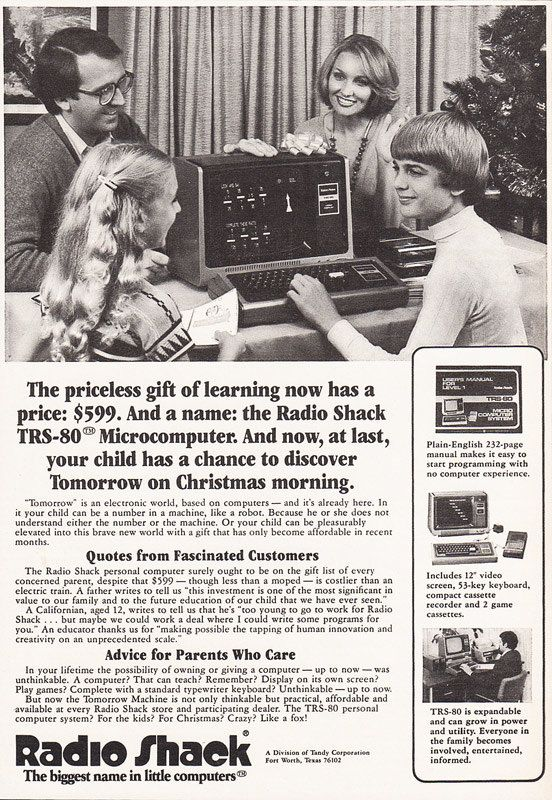 1978 TANDY TRS 80 Christmas Computer Advertisement Radio