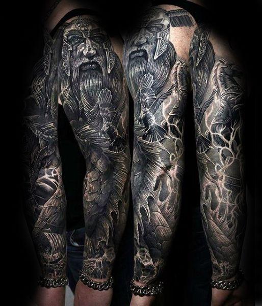 60 Odin Tattoo Designs For Men Norse Ink Ideas Diseños Tatuajes