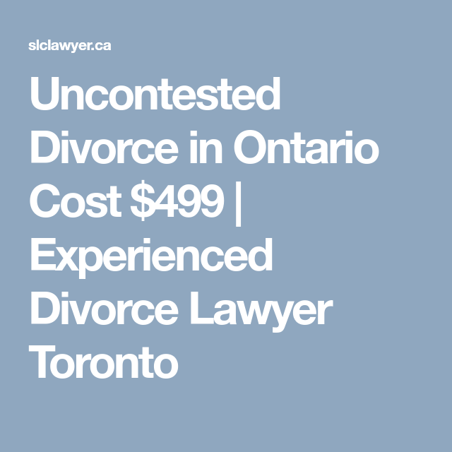 Uncontested divorce toronto