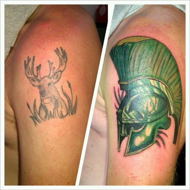 Cover up i did tonight for a state fan tattoo for Best tattoo artists in michigan
