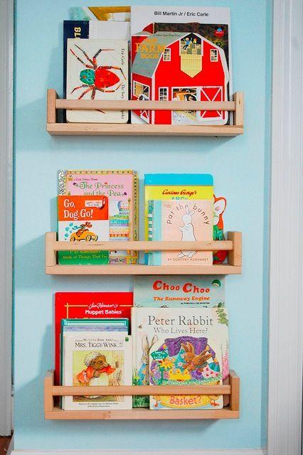 IKEA Spice Racks As Kids Book Shelves