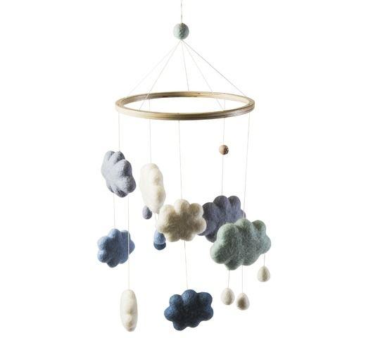 vilten mobile baby - Wolken blauw - Sebra
