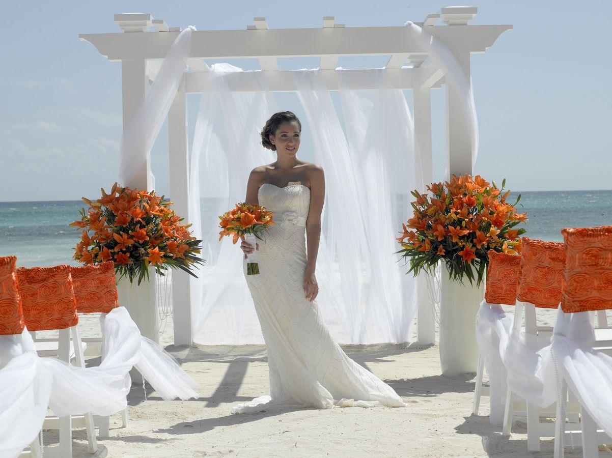 Palladium Weddings - Mayan pearl theme- white, pink, or orange ...