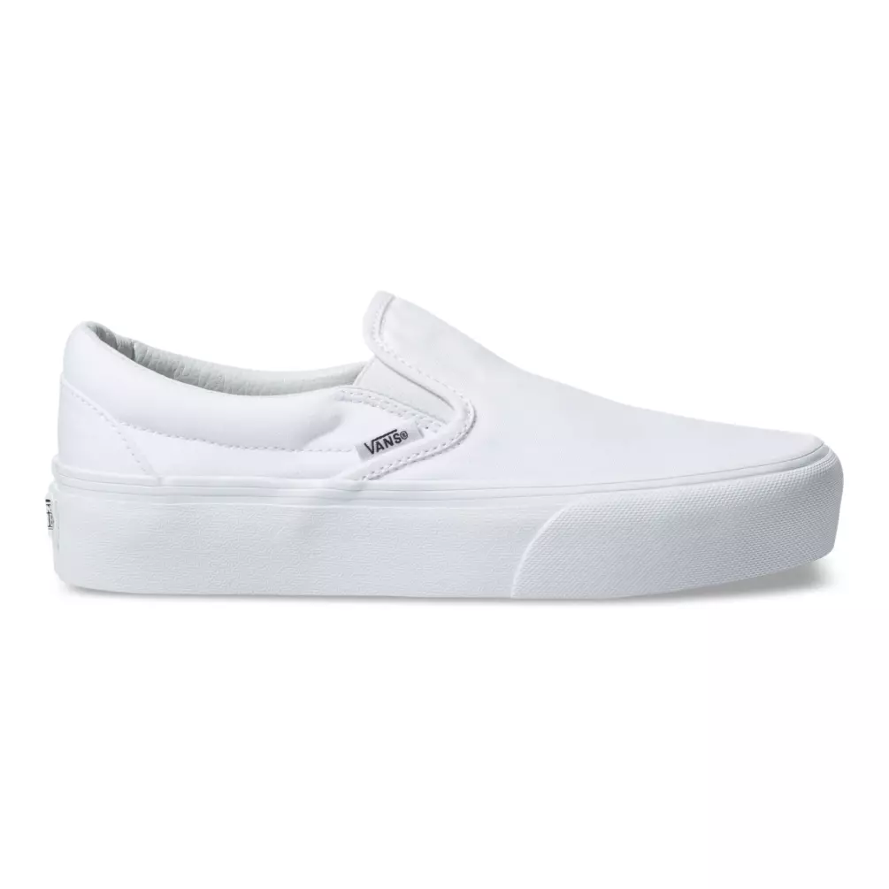 Vans Shoes Classic Slip On Platform Sneakers in True White