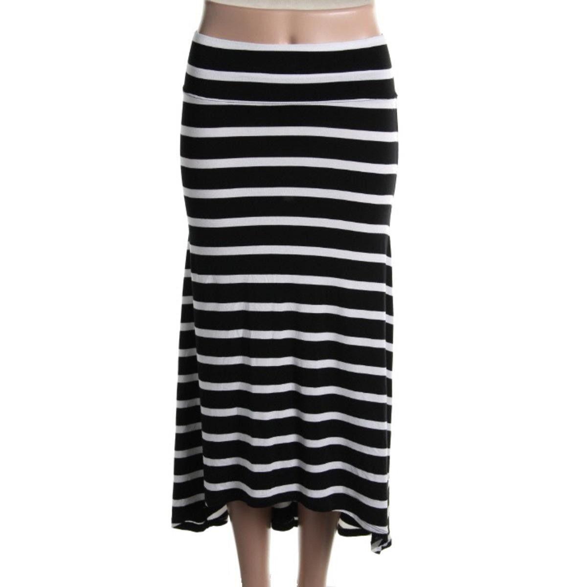 Erik + Lani Womens Juniors Jersey Hi-Low A-Line Skirt