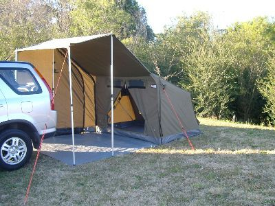 The Oztent RV 1 is a quick set up by one in less than 30 seconds! Features a smaller pack size making it ideal for 1 or a small trailer accessory. & The OZ Tent: Setup in 30 seconds (if you donu0027t count staking it ...
