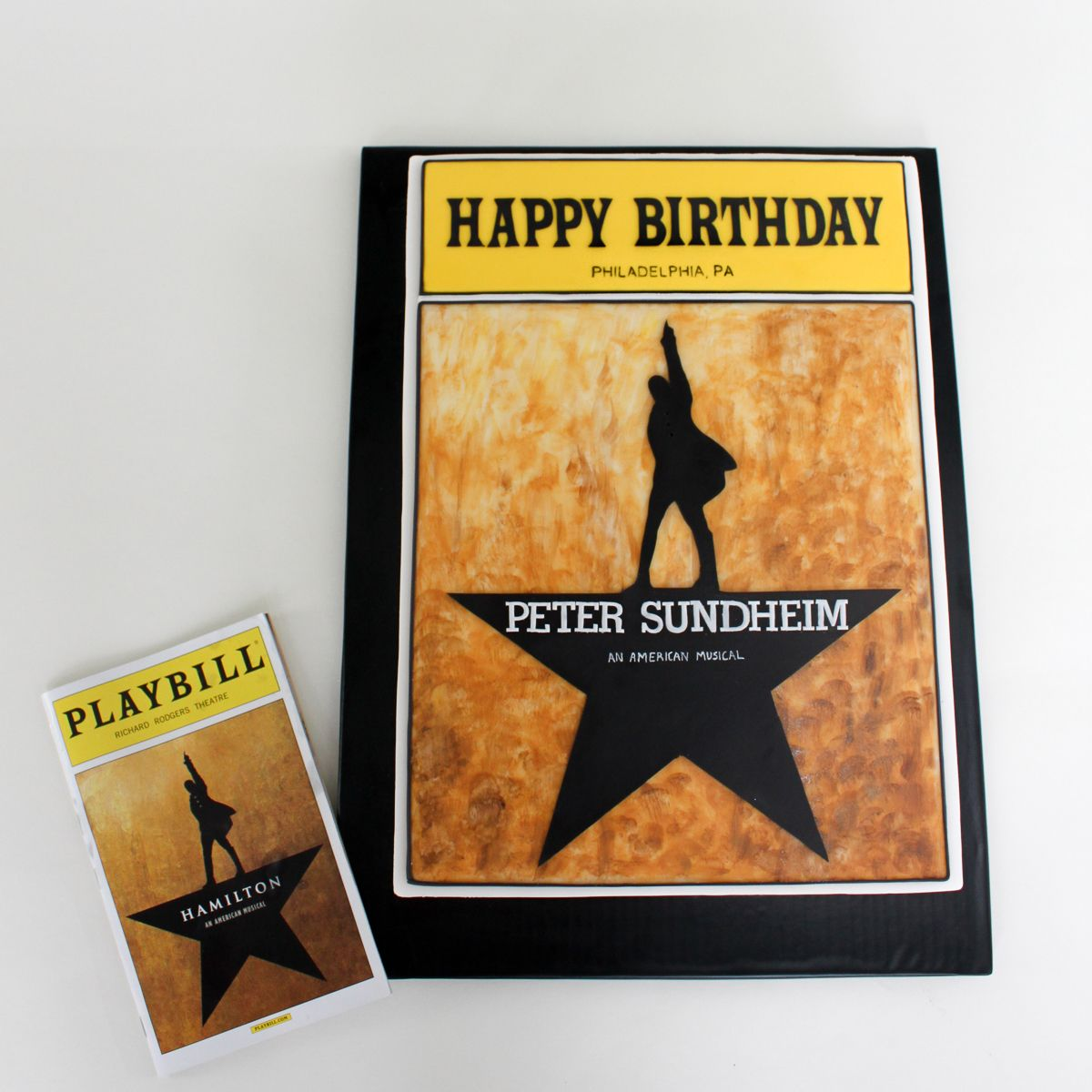 Hamilton The Broadway Musical Cake--a Hand-painted, Custom