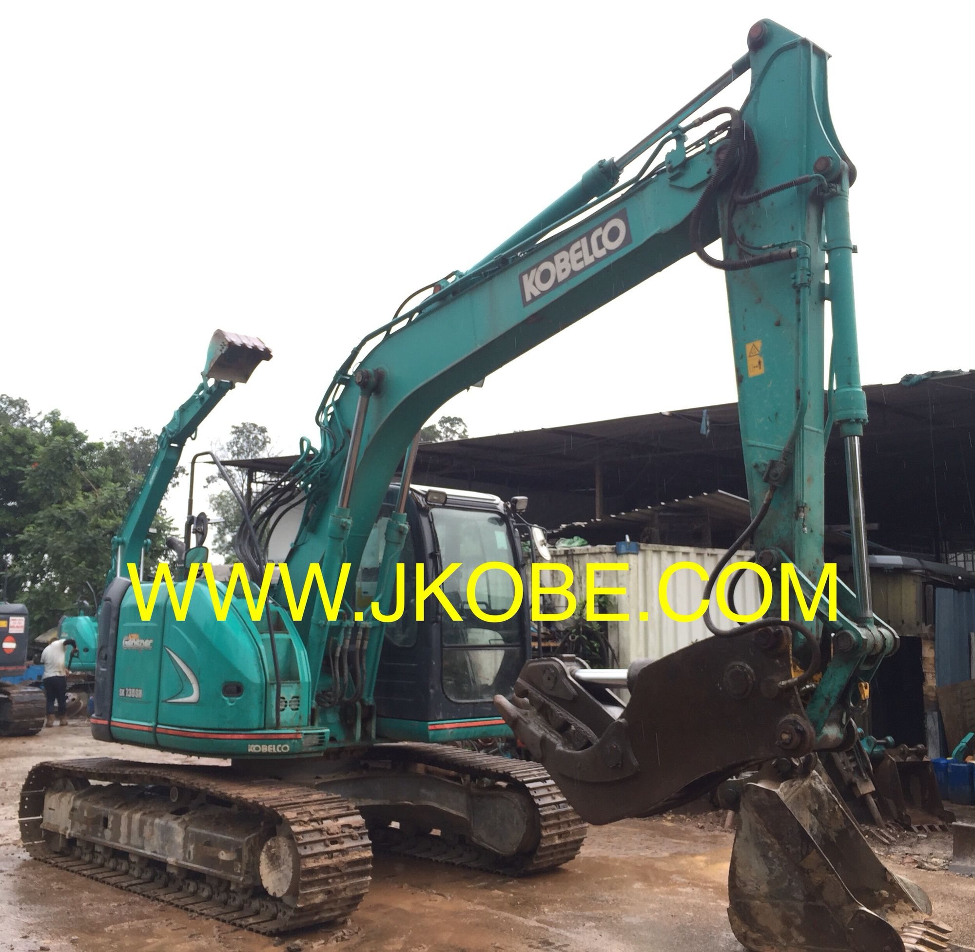 Japan #Kobelco #Excavator #SK135SR #Crusher #Okada #Sales