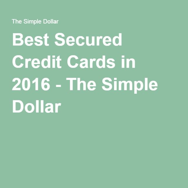 Best Secured Credit Cards In 2016