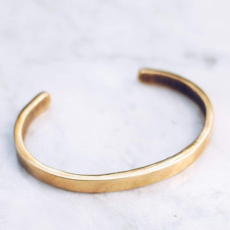 Minimal Bracelet Brass Mens Gold Bracelets Gold Band Bracelet Gold Bracelet Cuff