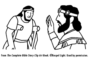 David Is Kind To Mephibosheth Kids Coloring Page Bible