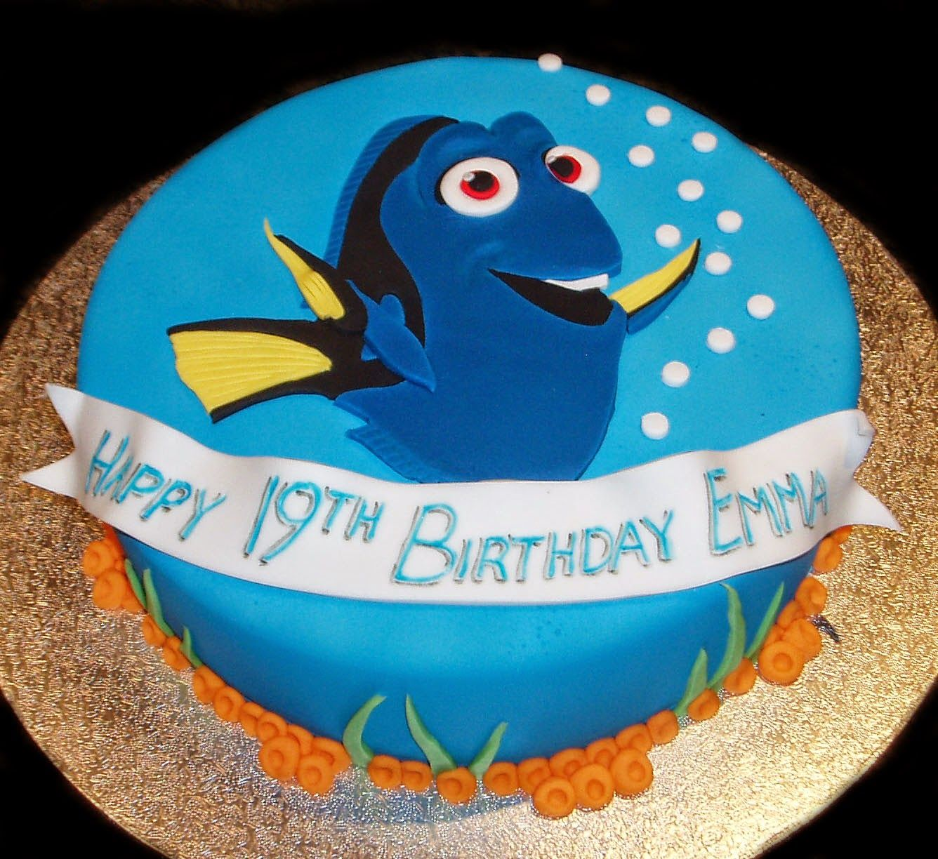 Dory Birthday Cake cakepinscom Gifts Parties Pinterest