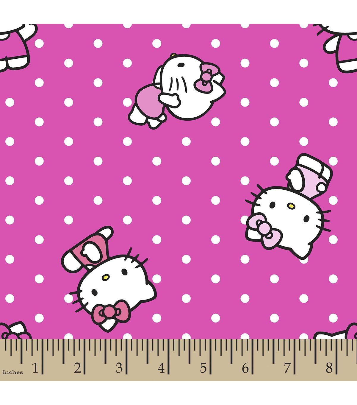 Sanrio Hello Kitty Print Fabric-Dots | Personalized Fabric | Online ...