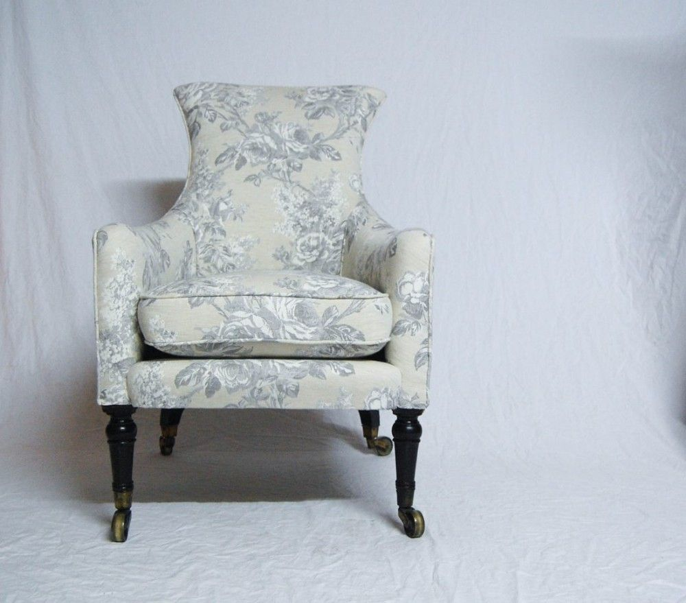 George Iv Period Library Armchair With Cabriole Back Legs
