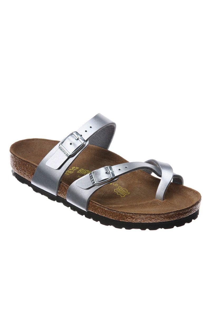 Birkenstock Mayari Birko Flor + Silver Women's   Shoes