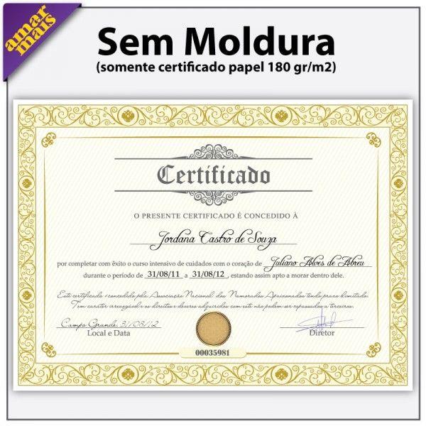 Certificado De Melhor Namorado