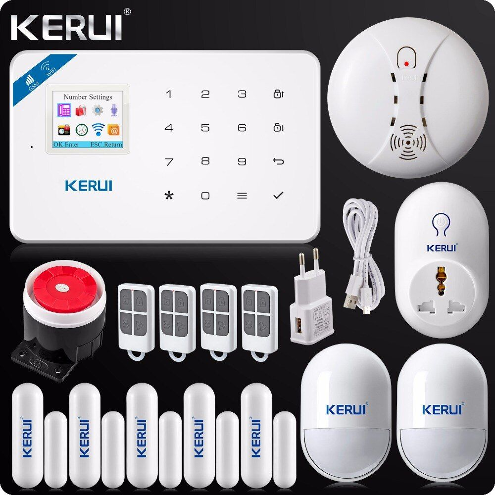 KERUI W18 Wireless WIFI GSM Burglar Security Home Alarm