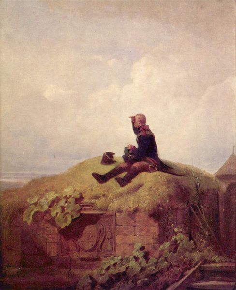 The Knitting Soldier by Carl Spitzweg