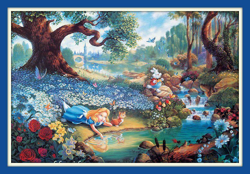 Beautiful Alice In Wonderland 11x14 Matted 8x12 Fine Art