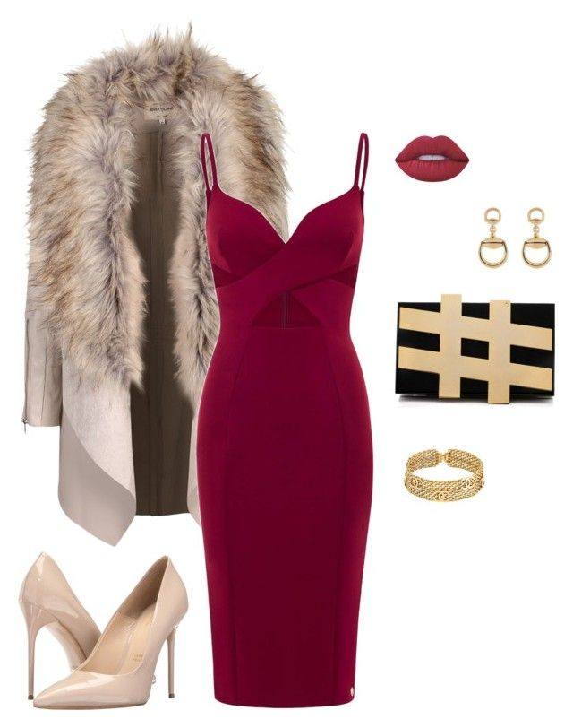 """Party time"" by katka-klimova ❤ liked on Polyvore featuring Aloura London, Lime Crime, Massimo Matteo, Chanel and Gucci"
