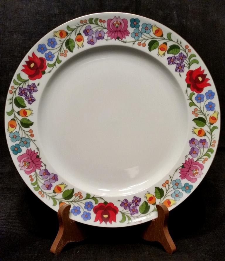 Kalosca Fine China Plate Hand painted and numbered Hungarian Porcelain Folk Art Floral & Kalosca Fine China Plate Hand painted and numbered Hungarian ...