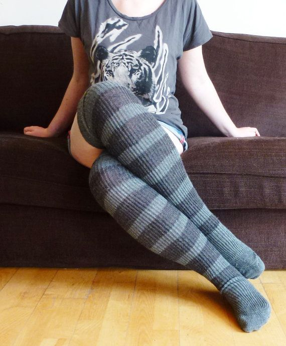 ed30b873311 Thigh high - KNITTED WOOL socks - Better than leg warmers - extra ...