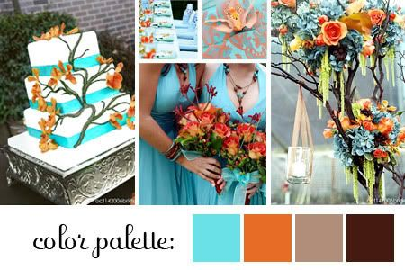 Emejing Teal And Orange Wedding Colors Contemporary - Styles ...